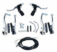"""Brake Levers V Brakes Cables Caliper Kit For Mountain Road Hybrids 24"""",26"""" Bike"""