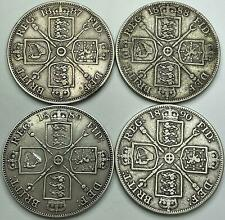 More details for queen victoria silver double florin 1887 to 1890 - choose your year!