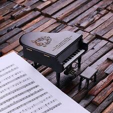 Personalized Black Piano with Music & Jewelry Box Mom Friend Ladies Child