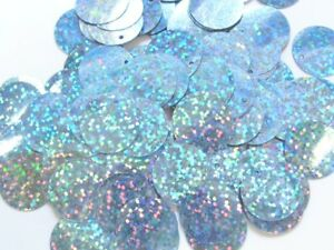 100 Gramm Pailletten-Geld Durchmesser 20mm Farbe: Skyblue