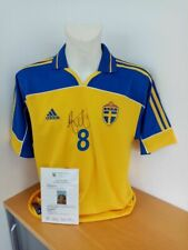 Schweden Trikot Ekdal signiert  Fußball, Autogramm Unterschrift Sverige Adidas L