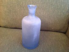 FOSTED BLUE GLASS BOTTLE