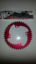 MCS 104 4 BOLT CHAINRING GEAR BMX 42T RED MADE IN THE USA