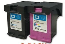 Super 60XL Ink Cartridge Combo for HP 4280 C4680 D2660 F4480 D2560 Printer-2PK