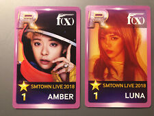 f(x) Smtown Live 2018 Superstar Sm Japan Photocard