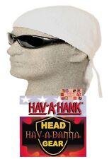 WHITE Hav-A-Danna FITTED BANDANA w/TIES Head Wrap Skull Cap DOO DO Du RAG DooRag