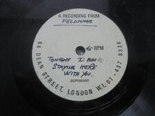 """Bob Dylan - Tonight I'll Be Staying Here With You 1969 UK 7"""" FELDMANS ACETATE"""
