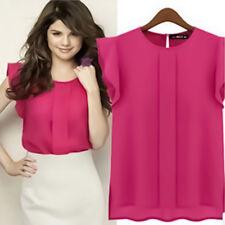 Women Vest Tops Casual Chiffon Blouse Sleeveless Tank Top Office Lady T-Shirt