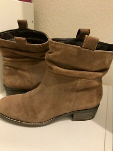 Next Brown Ankle Suede Size 37 Boots (77BB)