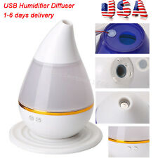 USA  Colour Changing LED Air Humidifier Purifier Aroma Oil Diffuser Aromatherapy