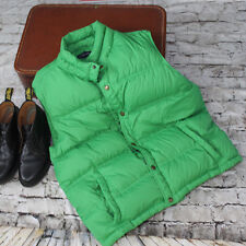 Lands End Puffy Puffer Vest Sz L Mens Goose Down Kelly Green Jacket