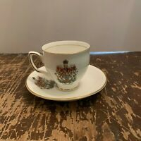 Vintage Duchess Bone China Canada Souvenir Coffee Cup And Saucer Made In England