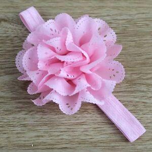 Kids Girls Toddler Baby Cute Flower Elastic Headband Hair Band Accessories