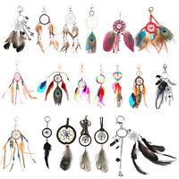 Dream Catcher Feather Keyring Tassel Pendant Keychain Bag Car Key Ring Chain