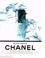 PUBLICITE ADVERTISING 085  1996  CHANEL  cosmétiques  HYDRA-SERUM