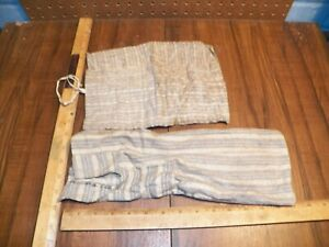 Vintage Pair Of Roll Up & Tie Cloth Storage Bags for Silverware / Flatware     *