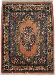 Floral Classic Design Small Entrance 2X3 Oriental Rug Vintage Style Wool Carpet