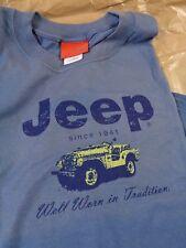 T- Shirt XL JEEP Original  uomo maglietta logo Jeep Blue chiaro