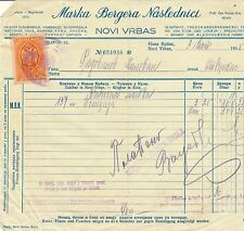 SERBIA 1935 NICE CLEAN INVOICE WITH 1 DINAR TAX STAMP