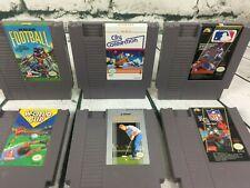 Lot of 6 NES Sports Golf, NFL, Baseball, Soccer, Football, City Connection OEM