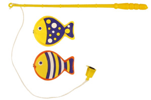 Mini Magnetic Fishing Game Hook Rod Miniature Classic Party Bag Stocking Filler