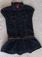 Gymboree 5 Girls Merry & Bright Denim Jean Dress EUC western