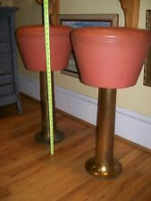 L&B Products Vintage Classic Retro Semi-Antique Rare Solid Brass Base Bar Stool