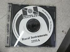 Racal Instruments 2251A Universal Timer/ Counter Operators Manual Cd 980789