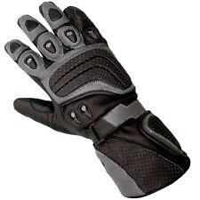 Mens Geniune Cowhide Leather Motorcycle Motorbike Biker Riding Gloves