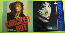 """2 x  7"""" VINYL SINGLES by Paula Abdul. Knocked Out and Vibeology."""