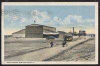 Postcard NEWPORT NEWS Virginia/VA  Boat Harbor Dock w/Trolley view 1910's