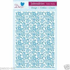 Die'sire embossalicious PERFECT PAISLEY embossing folder A4 for eBosser etc