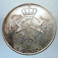 1968 Order of Malta Like Knights Templar Grandmaster MOJANA Silver Coin i71387