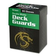 80 BCW Matte Green MTG Deck Guards Protector Gaming Card Sleeves - BOXED!