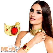 Cleopatra Garnet Bracelet Ladies Fancy Dress Persian Egyptain Costume Accessory