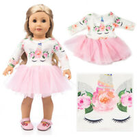 Stylish Sweet Doll Clothes Dress Outfits Yarn Accessory For 18 inch Doll Girl