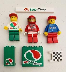Lego 3X Classic Octan Racing Minifigures Race Car Drivers Mechanic Pattern Tile