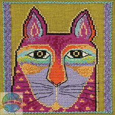 Cross Stitch Kit ~ Laurel Burch / Mill Hill Wild Pink Cat #Lb30-5113 (Aida)