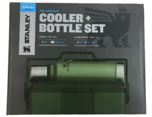 Stanley Adventure Heritage Series Green Lunch Cooler and Bottle Set 10 08258 001