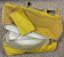 TUPPERWARE Picnic Swim Beach Diaper Bag Cooler Yellow VINTAGE BONUS Make-up Bag