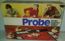 PROBE BY PARKER BROTHERS 1974 EDITION - THE GAME OF WORDS -VINTAGE RARE COMPLETE