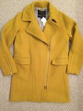 JCREW $365 Zippered Coat In Stadium-Cloth Wool Size 4 Golden Chartreuse F7037