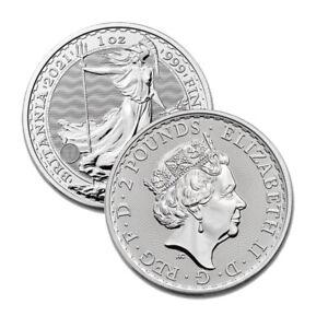 2021 Silver Great Britain 1 oz Silver Britannia Coin .999 Fine