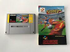 Super Nintendo SNES Spiel International Superstar Soccer +Anleitung/ Top // #247