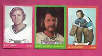 1973-74 OPC RUTHERFORD + GARY SMITH + WILSON GOALIE CARD (INV# C6792)