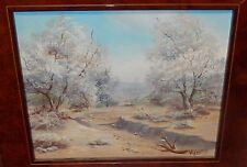 M.LIDIKAY DESERT DRY CREEK BED ORIGINAL OIL ON CANVAS LANDSCAPE PAINTING