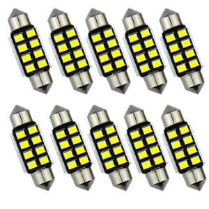 2x Super Bright 36mm Festoon 8-SMD Car Interior Dome LED Light Lighting Bulbs