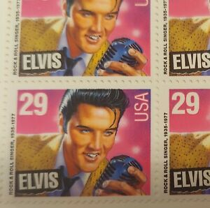ELVIS PRESLEY - 1993 US Stamps - 29 Cents Sheet of 20 NEW MINT CONDITION STAMPS