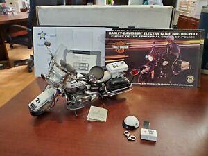 Rare Franklin Mint Harley- Davidson Electra-Glide Police Patrol w/ COA 1:10 MIB