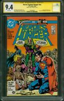Heroes against Hunger 1 CGC 9.4 SS Neal Adams Worlds Finest Batman Superman 1986